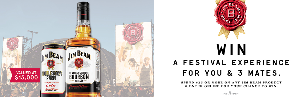 Jim Beam Win A Festival Experience for Four