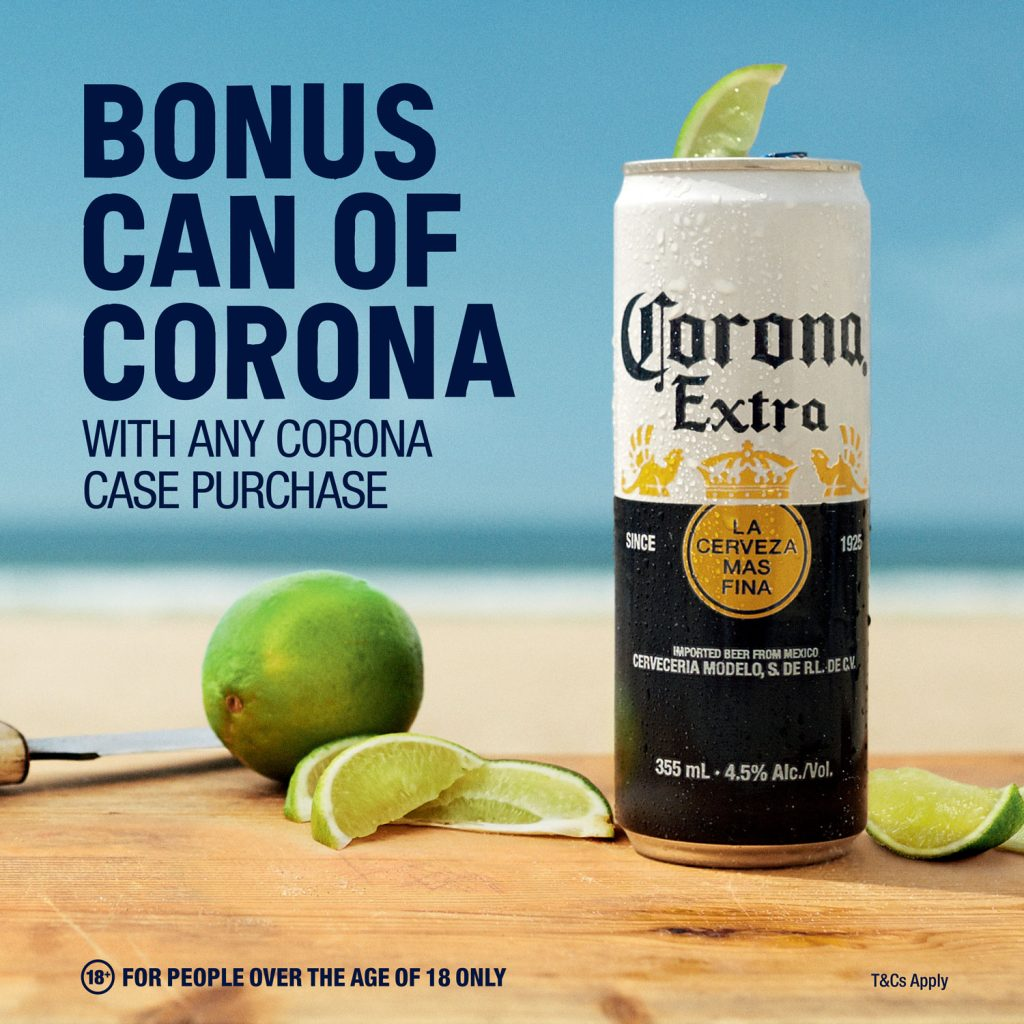 Bonus Can of Corona with Carton purchase